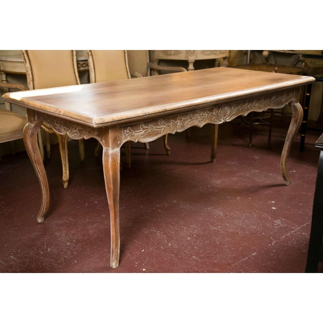 Brown French Provincial Style Distressed Dining Table For Sale - Image 8 of 8