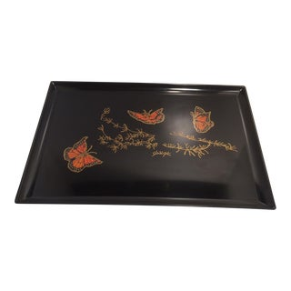 Mid-Century Modern Large Monarch Butterfly Tray by Couroc