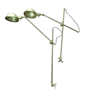 Brass Articulating Arm Lights - A Pair For Sale