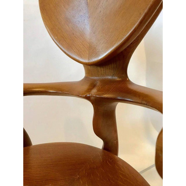 Lacquer Calvet Armchair by Antoni Gaudi For Sale - Image 7 of 8