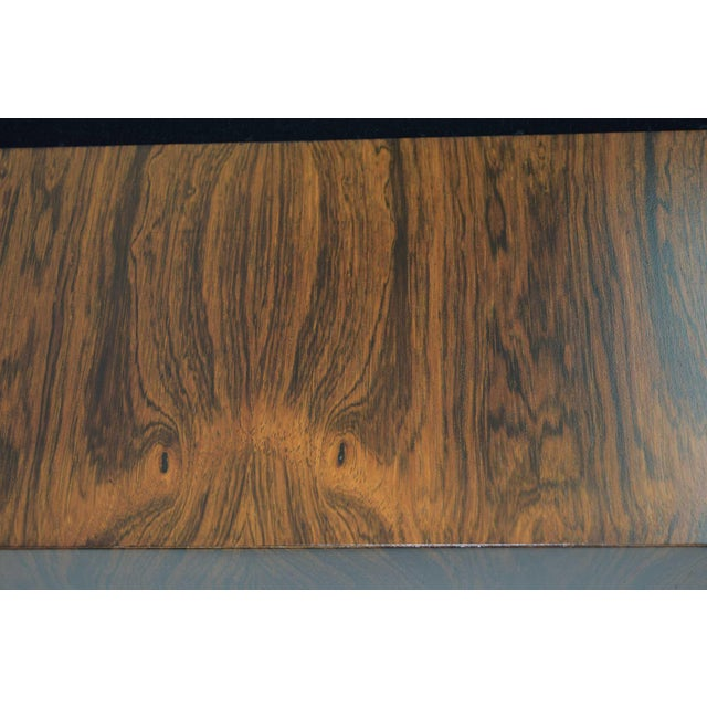 Milo Baughman for Thayer Coggin Rosewood Case Sofa in Maharam Mohair For Sale - Image 12 of 13