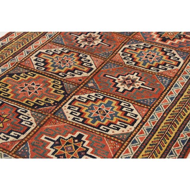 Persian AntiqueRussian Area Rug Kazak Design For Sale - Image 3 of 5
