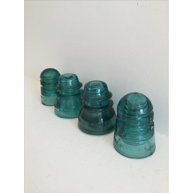 Antique Glass Insulators - Set of 4 - Image 2 of 4