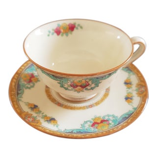 Royal Doulton Demitasse Cups and Dessert Plates - Set of 10 For Sale