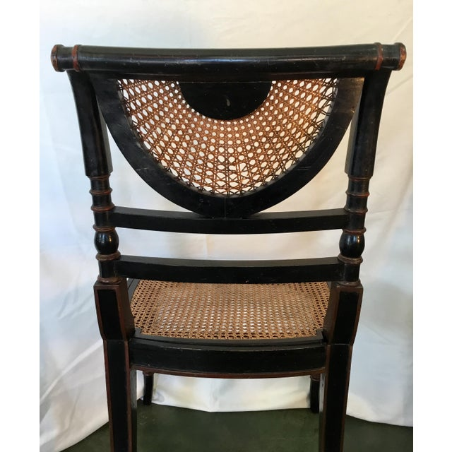 Set of 8 French Cane Dining Chairs Circa 1840 - Two Arm & Six Side Chairs For Sale - Image 10 of 13