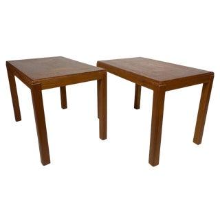 Danish Modern Teak Side Tables by Vejle Stole & Møbelfabrik - a Pair For Sale