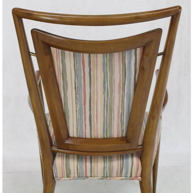Wood Set of Six Mid-Century Modern Walnut Dining Chairs by Widdicomb in Ponti Style For Sale - Image 7 of 10