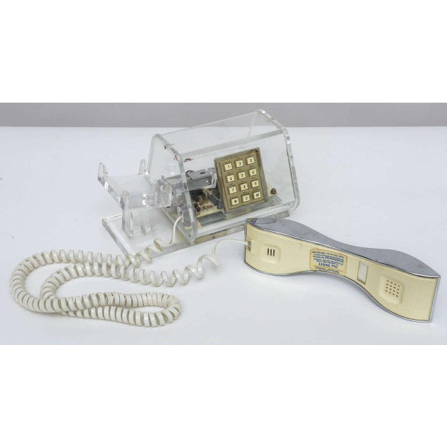 Mid-Century TeleConcepts Chrome & Lucite Phone For Sale - Image 9 of 10
