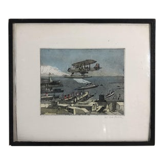 1950s Vintage Robert Andrew Parker Signed Artist's Proof Etching Print For Sale