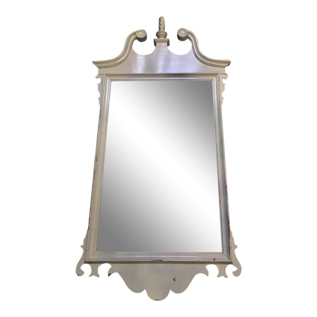 Neoclassical White Mirror For Sale
