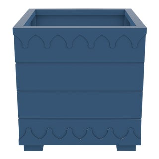 Ocean Drive Outdoor Planter Large, Blue For Sale
