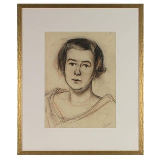 Emerich Bergthold Portrait of a Woman in Charcoal, Circa 1926 Circa 1926 For Sale