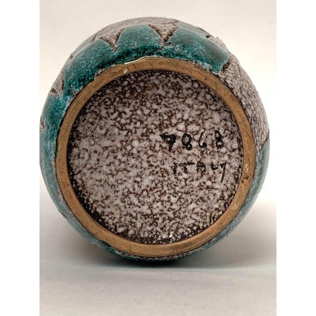 Gambone and Fanciullaci Style Italian Mid-Century Modern Ceramic Vase For Sale - Image 11 of 13