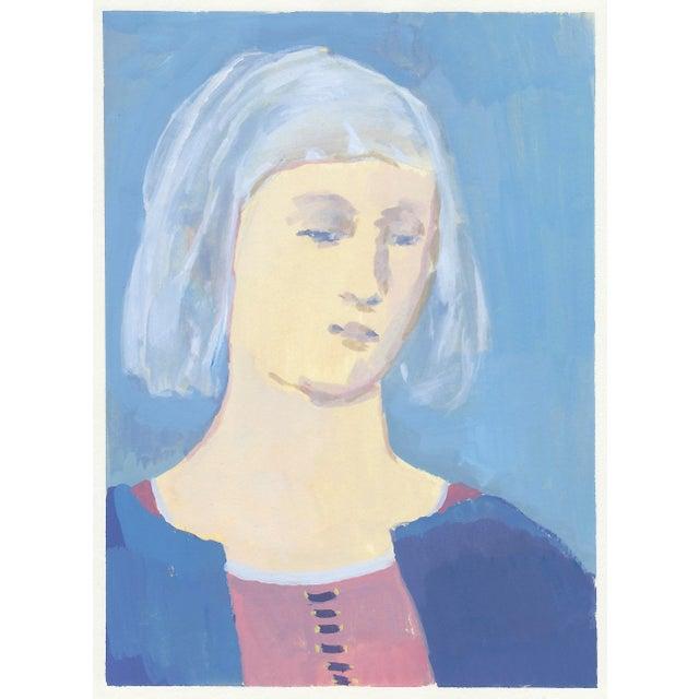 Renaissance Woman Original Portrait Painting For Sale - Image 4 of 4