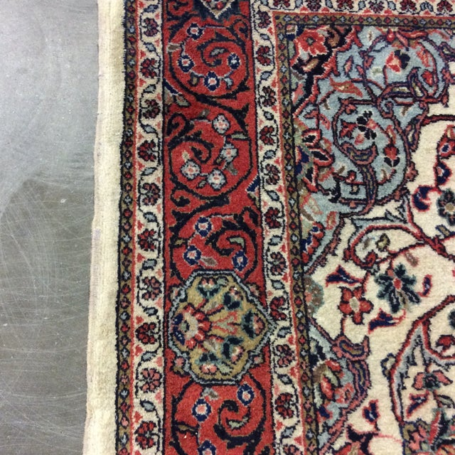1980s Vintage Saroukh Persian Rug - 4′3″ × 6′4″ For Sale - Image 4 of 6