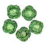Image of Antique Bordello Pinheiro Cabbage Tureens- Set of 5 For Sale