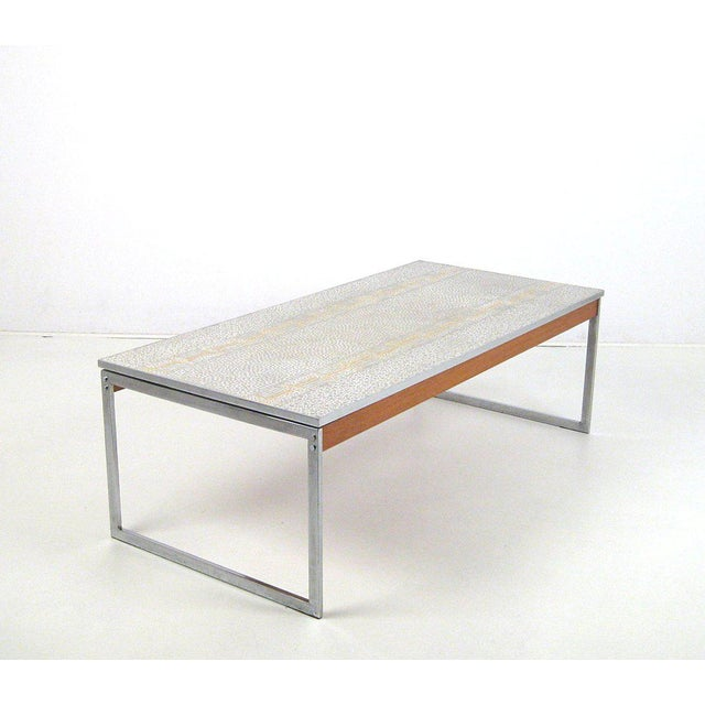1960s Mid-Century Modern Chrome and Mosaic Coffee Table For Sale - Image 10 of 10