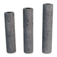 Charcoal Concrete Vases - Set of 3 For Sale