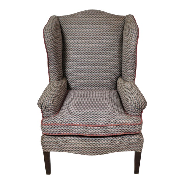 Vintage French Kids Wing Chair Newly Upholstered For Sale