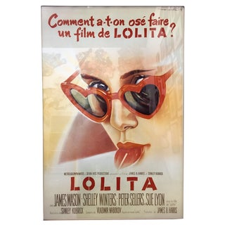 "1960s Americana Framed French ""Lolita"" Movie Poster For Sale"