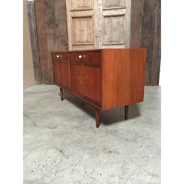 Brown Kipp Stewart Walnut Credenza For Sale - Image 8 of 11