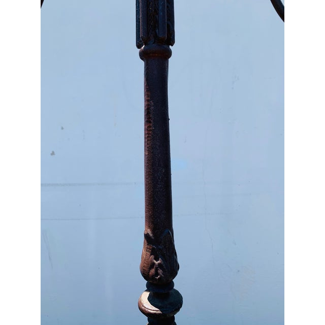 Late 20th Century Huge Cast Iron Candelabra For Sale - Image 5 of 12