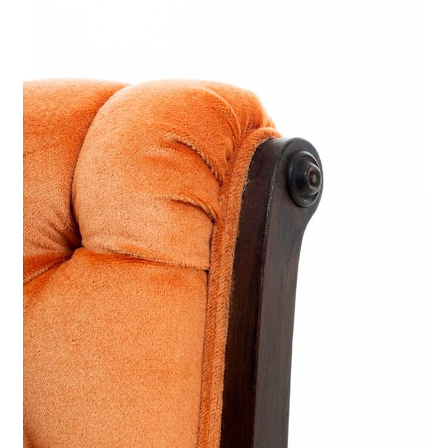 Wood Antique Slipper Chair For Sale - Image 7 of 10