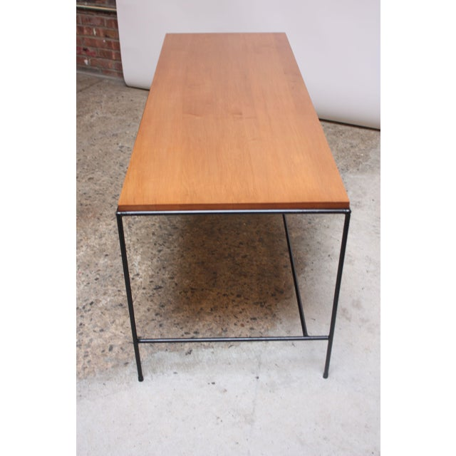 Winchendon Furniture Company Paul McCobb for Winchendon Maple and Iron Console / Media Table For Sale - Image 4 of 13