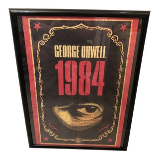 Shepard Fairey Signed and Number 1984 George Orwell Framed Lithograph For Sale