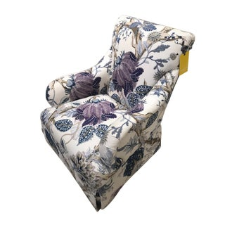 Early 21st Century Schumacher Upholstered Albert Chair For Sale