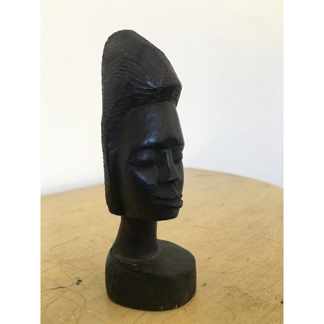 Vintage Tribal Carved Bust - Image 3 of 4