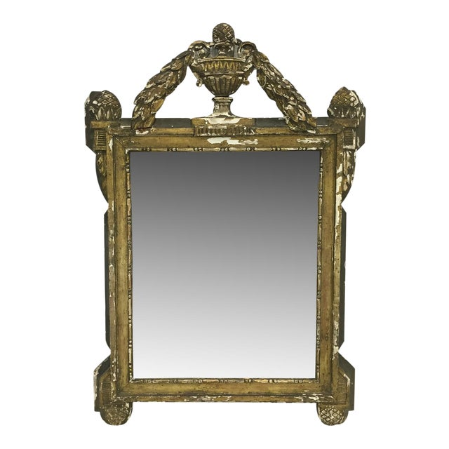 19th Century French Carved and Painted Mirror - Image 1 of 6