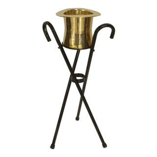 American Art Deco Ebonized Stand