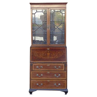Secretaire Bookcase with Inlays For Sale