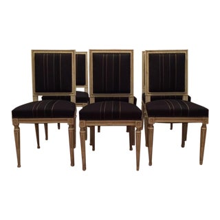 1940s Vintage Louis XVI Dining Chairs - Set of 6