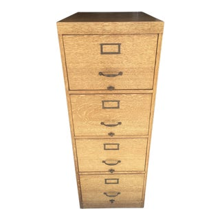 Quatersawn Oak File Cabinet Wabash Company