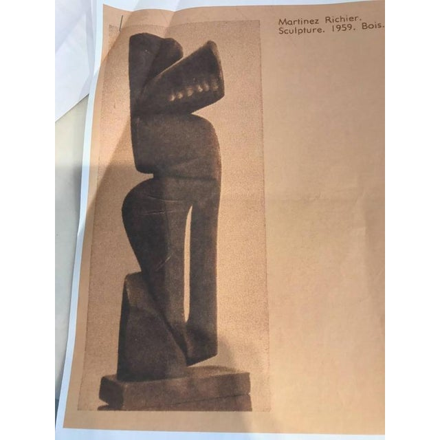 Monumental 1960s Macassar Ebony Sculpture For Sale - Image 9 of 12