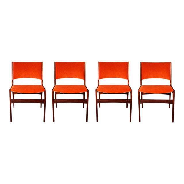 Danish Modern Teak Side Chairs - Set of 4 - Image 1 of 9
