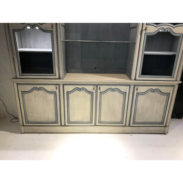 1980s French Curio China Display Cupboard Armoire For Sale In Chicago - Image 6 of 12