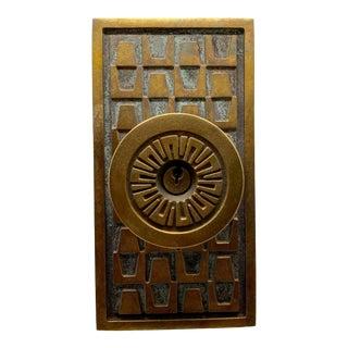 1950s Satin Bronze Schlage Sahara Entry Door Set For Sale