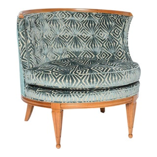 Grosfeld House 1940s Glamorous Curved Slipper Chair