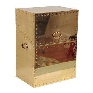 Brass Trunk Attributed To Sarreid Ltd. Spain