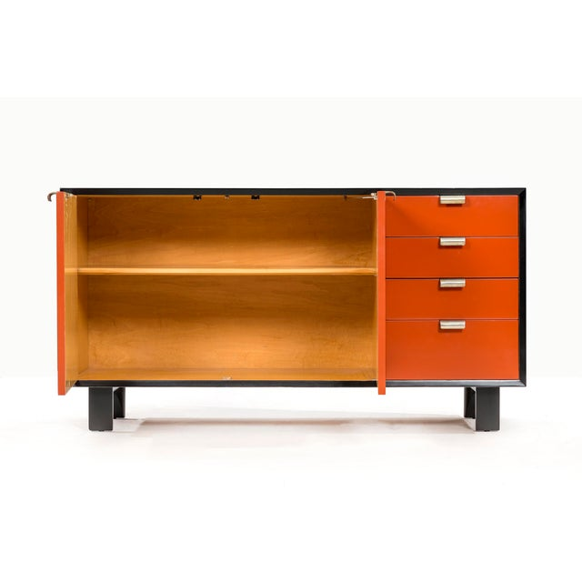 Paint George Nelson Orange Credenza For Sale - Image 7 of 13
