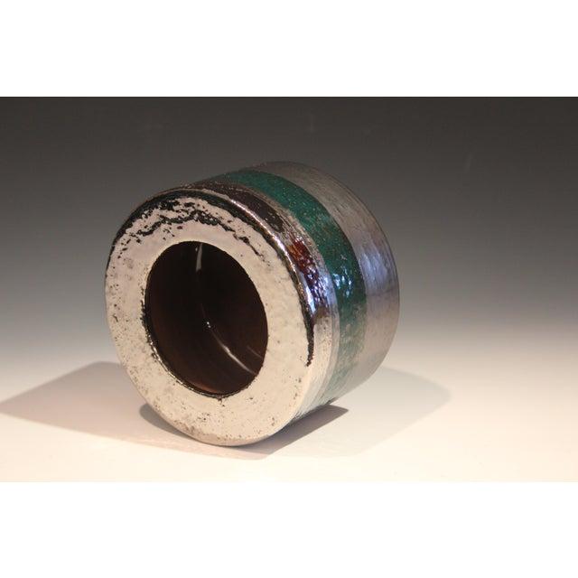 1960s Vintage Bitossi Londi Raymor Metallic Vase For Sale - Image 5 of 11