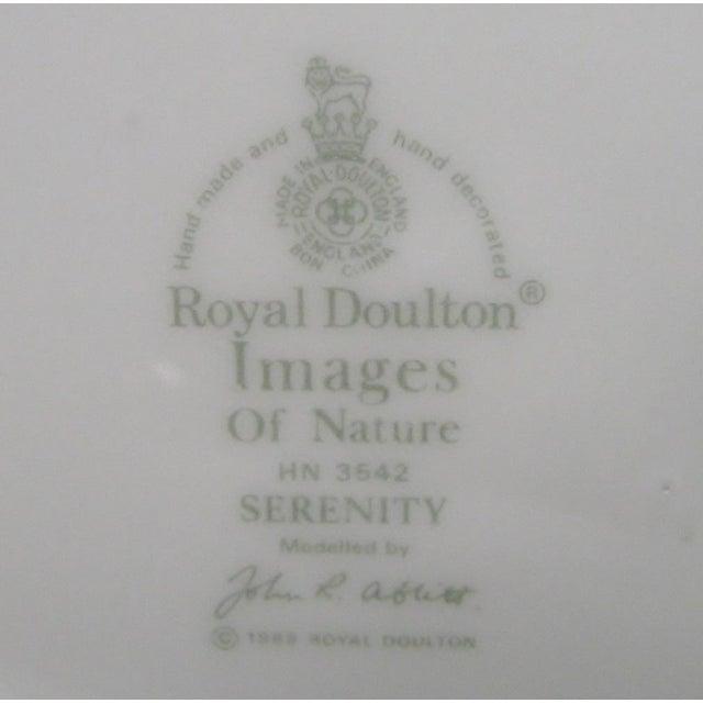 White Vintage Royal Doulton Porcelain Figure For Sale - Image 8 of 8