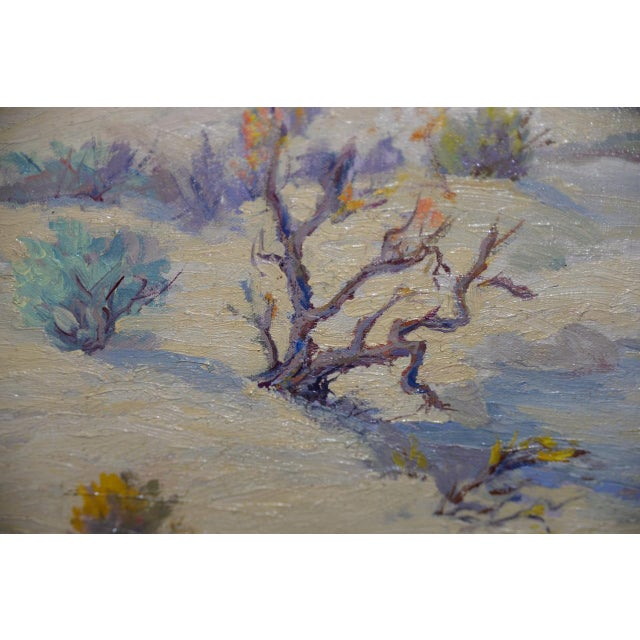 """Red Mesa, Az"" Original Desert Landscape Painting C.1940s For Sale - Image 9 of 13"