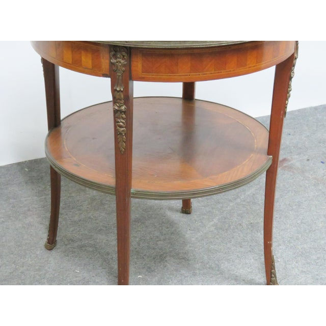 Grosfeld Marble Top Satinwood Inlaid Center Table For Sale In Philadelphia - Image 6 of 9