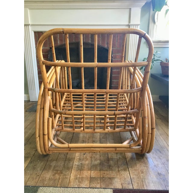 Mid-Century Modern Bamboo Club Chair - Image 6 of 10