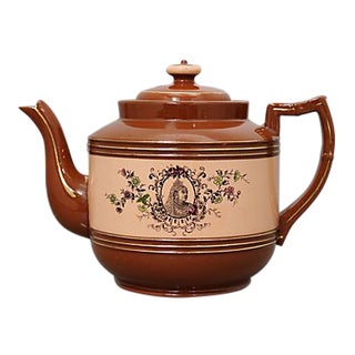 1897 Queen Victoria Terracotta Teapot For Sale
