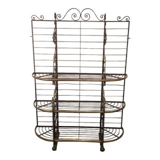 French Brass and Iron Baker's Rack For Sale
